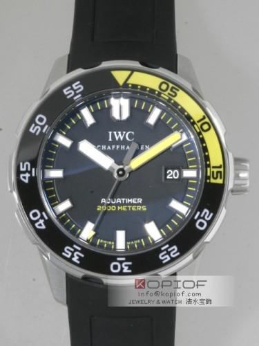 IWC アクアタイマー スーパーコピーIW356810 オートマッチック2000 ラバー ツヤ消ベゼル ブラック