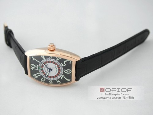 フランクミュラー ヴェガス スーパーコピー5850VEGAS 4N(PG) ブラック皮 ブラック