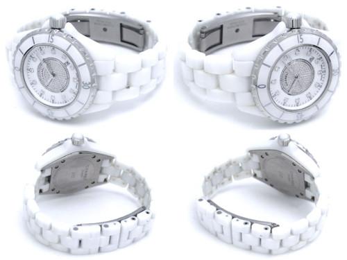 シャネルJ12 スーパーコピーH2123 ホワイトセラミックブレス 12Pダイヤ ホワイト/センターダイヤ