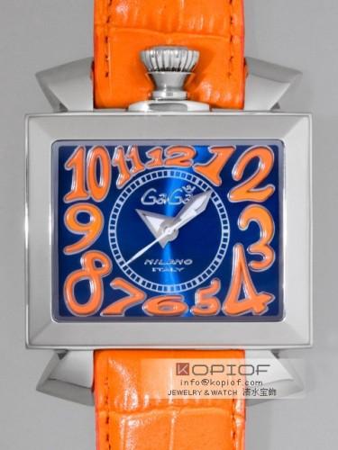 ガガミラノ ナポレオン46MM スーパーコピー自動巻き 6000.4 オレンジ皮 ブルーソレイユ/オレンジアラビア