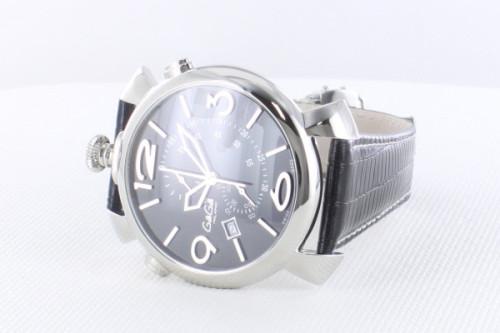 ガガミラノシンクロノ46MM スーパーコピーTHIN CHRONO ステンレス 時計 5097.01BK
