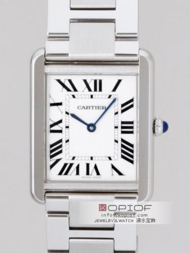 カルティエ タンクソロ スーパーコピーW5200014 SS LM ブレス ホワイト