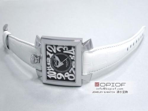 ガガミラノ ナポレオン46MM スーパーコピー自動巻き 6000.2 ホワイト皮 ブラック/ホワイトアラビア