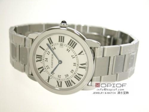 カルティエ ロンド スーパーコピーW6701005 SS LM ブレス ホワイト