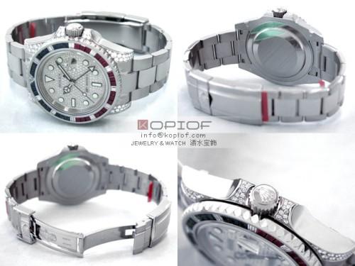 ロレックス GMTマスターII スーパーコピー116759SARU DP サファイヤ・ルビー・ダイヤベゼル ラグダイヤ 全面ダイヤ