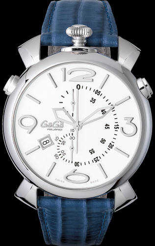 ガガミラノシンクロノ46MM スーパーコピーTHIN CHRONOステンレス 時計 5097.02BL