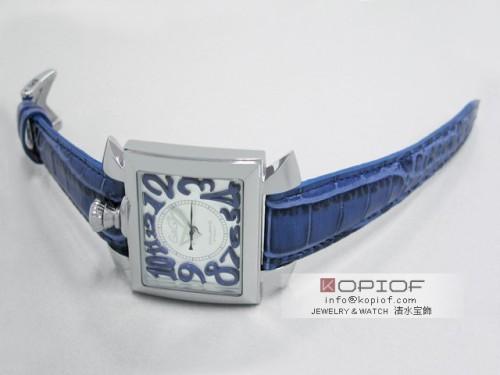 ガガミラノ ナポレオン46MM スーパーコピー自動巻き 6000.3 ブルー皮 シルバー/ブルーアラビア
