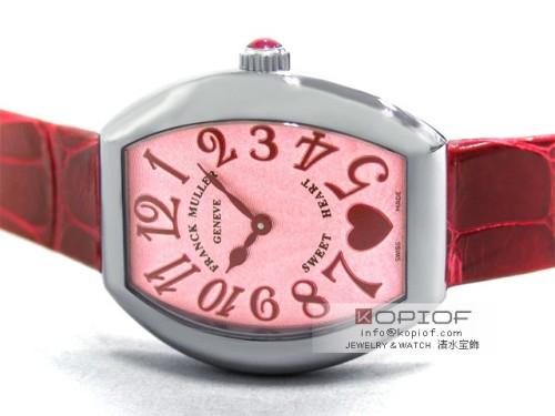 フランクミュラー スーパーコピー5002LQ C6H AC(SS) レッド皮 ピンク