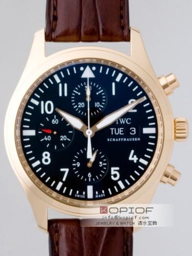 IWC パイロットウォッチ スーパーコピーIW371713 クロノ・オートマティック RG ブラック