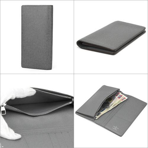 ルイヴィトン タイガ 財布スーパーコピーM32653 財布 ポルトフォイユ・ブラザ メンズ グラシエ ライトグレー