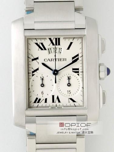 カルティエ タンクフランセーズ スーパーコピーW51024Q3 SS XL クロノリフレックス ホワイト