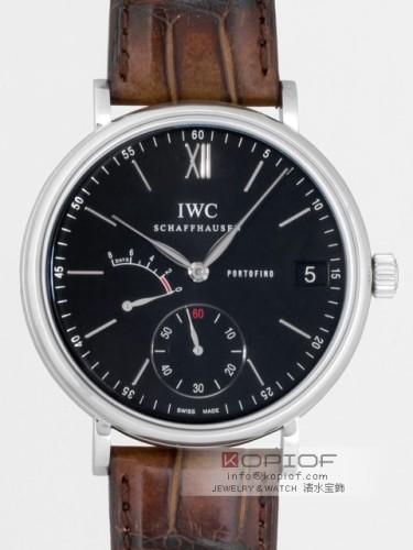 IWC スーパーコピーポートフィノ ハンドワインド 8DAYS IW510102 ブラウン皮 ブラック