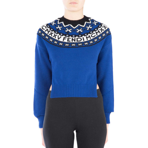 FENDI ニット セーター ウールブレンドセーター ブルー FZY513A0B2 F0CS8 フェンディ コート コピー