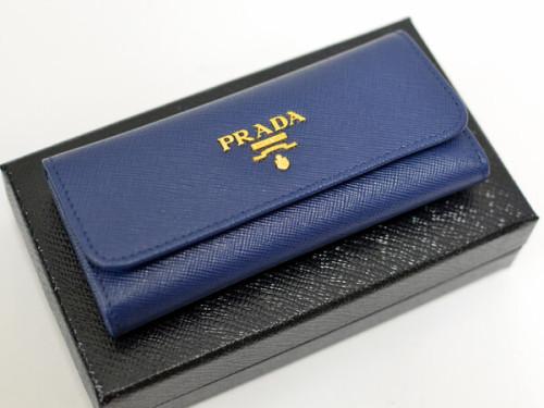 プラダキーケース コピー サフィアーノ キーケース 1M0223 BLUETTE SAFFIANO METAL 6連キーケース