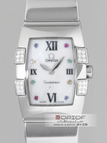 オメガ コンステレーション スーパーコピー1585.79 クアドレラ ミニ ダイヤモンド ホワイトシェル