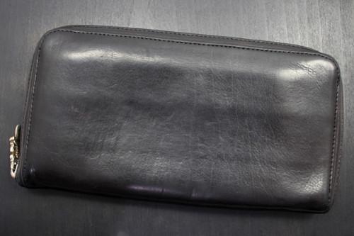 クロムハーツ 財布 コピーBSフレア/ラウンドファスナー財布/レックウォレット/ダークブラウン