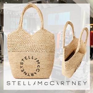 STELLA McCARTNEY ステラマッカートニー トートバッグ コピー ステラスモールロゴ(ラフィア)700093W87019500