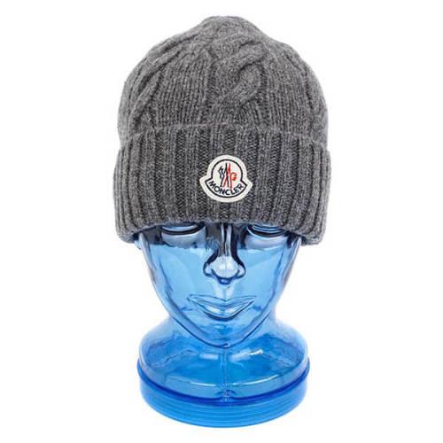 モンクレール 帽子 コピー MONCLER ニット帽 00287 00 04656 921 GREY グレー ニットキャップ 帽子 メンズ レディースユニセックス