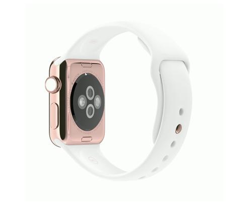 Apple Watch スーパーコピー38/42mm 18Kローズゴールドケースとホワイトスポーツバンド