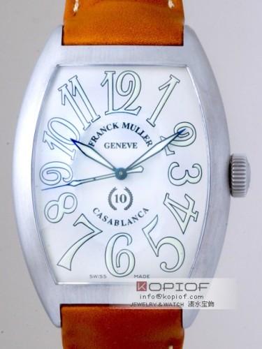 フランクミュラー カサブランカ スーパーコピー8880 CASA BR 10周年記念 ブラウン皮 ホワイト