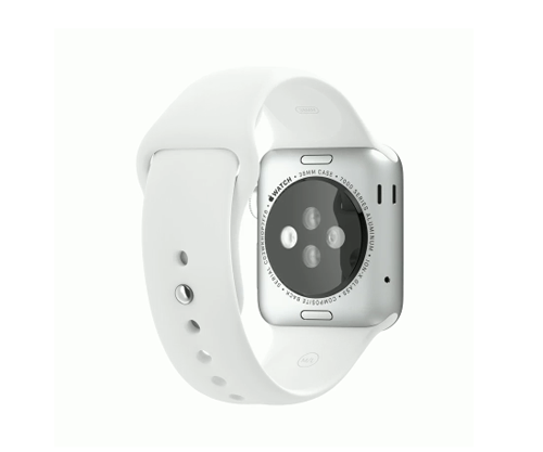 Apple Watch スーパーコピー38/42mmシルバーアルミニウムケースとホワイトスポーツバンド