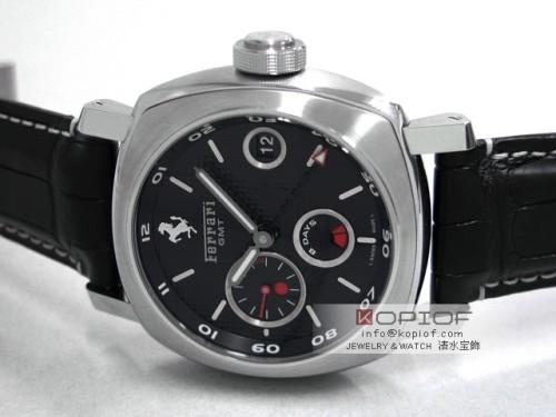 パネライ フェラーリ スーパーコピーグラントゥーリズモ 8DAYS GMT FER00012 45mm 世界限定500本 ブラック