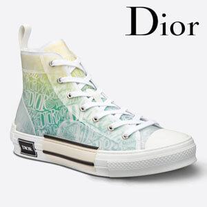 Dior コピーメンズ ハイカット スニーカー B23 ロゴオシャレ