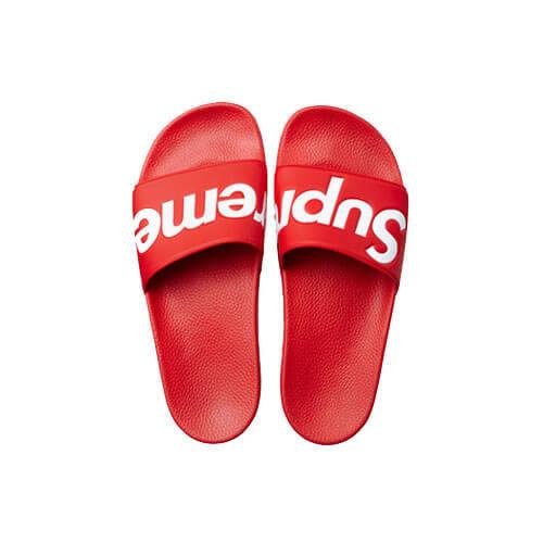 Supreme シュプリーム サンダル 偽物 Slides Sandals レッド