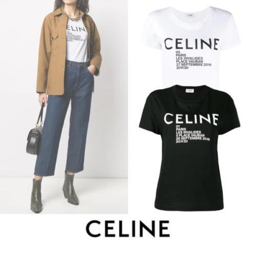 新作 CELINE セリーヌ Tシャツ 偽物 Celine Paris ロゴプリント 2X314864J 01OB