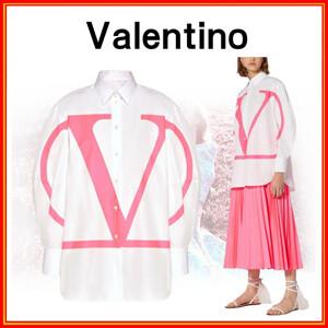 【VALENTINO】ヴァレンティノ Vロゴシャツ コピー おしゃれなポプリン