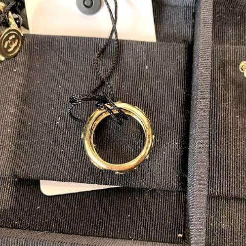 シャネル 指輪 偽物 CC ココ ロゴ リング ゴールド