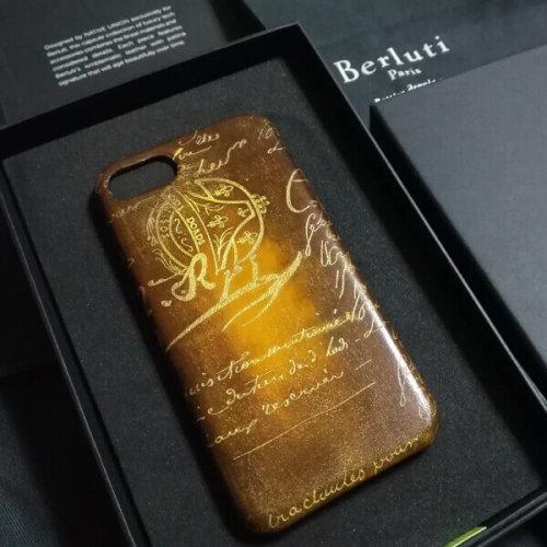 ベルルッティ スマホケース コピーBerluti iPhone8ケース ゴールドパティーヌ希少品
