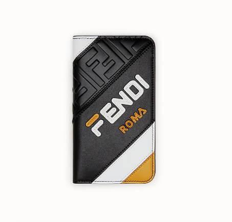 フェンディiPhoneXS ケース コピー FENDI iPhone X iPhone Xs対応 手帳型スマホケース FENDI MANIA