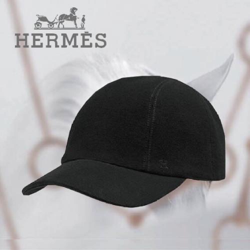 エルメス帽子コピー H コットンスエードキャップ ブラック H162071N 0260