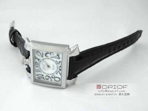 ガガミラノ ナポレオン40MM スーパーコピークォーツ 6030.5 ブラック皮 ホワイトシェル/ブラックカラーアラビア