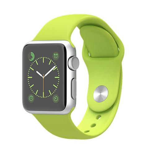 Apple Watch スーパーコピー38/42mmシルバーアルミニウムケースとグリーンスポーツバンド