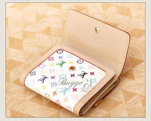 ルイヴィトン マルチカラー スーパーコピールイヴィトン モノグラムマルチカラー Wホック財布 ブロン M92983