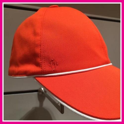 エルメス帽子コピー ベースボールキャップ コットン オレンジ系