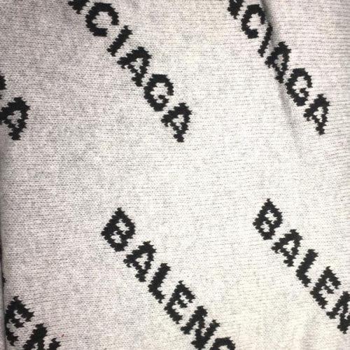 バレンシアガ リバーシブル ロゴ ストレッチー ウール マフラー 534448T14711262