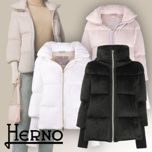 【Herno ヘルノ】偽物ウールファー パッデッド ダウン ジャケット PI067DR12255
