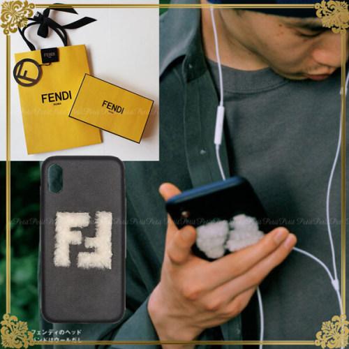 フェンディiPhoneXS ケース コピー FENDI 男女OK シープスキンFFマーク iphoneX iPhone Xs用ケース