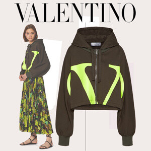 【ヴァレンティノ パーカー コピー】ジャージー スウェットシャツ Vロゴ TB0MF05L5FG26V