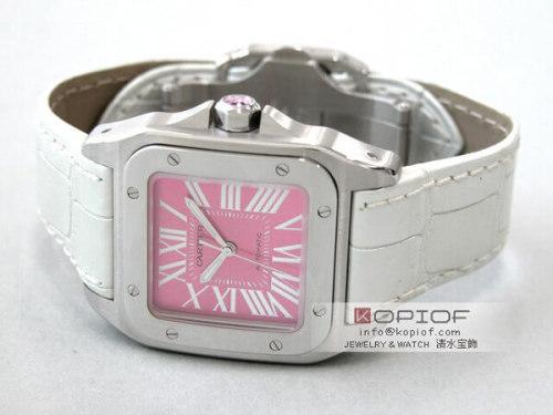 カルティエ サントス100 スーパーコピーW20133X8 SS 2008年サマーリミテッド2000本限定 ピンク