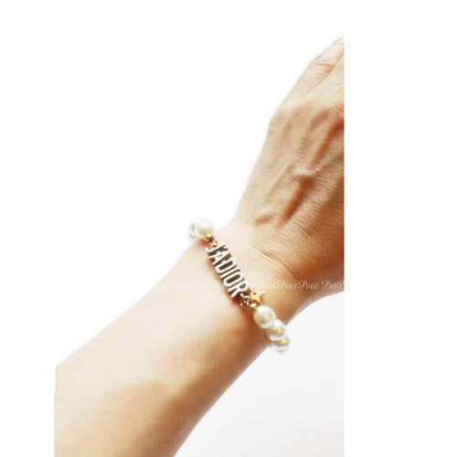Dior J'Adior ブレスレット コピー CDロゴ+パール!かわいいブレスレット