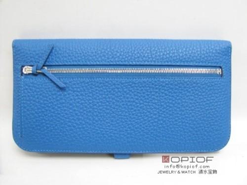 エルメス ドゴン スーパーコピーロング 二つ折長財布 トゴ/ミコノス(金具:シルバー) hr202