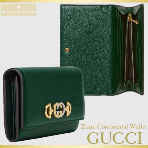 【人気★日本完売☆新春SALE】GUCCI Zumi Continental Wallet コピー 573612 1B90X 3154