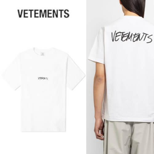 ヴェトモン tシャツ 偽物 VETEMENTS JEANSロゴ Tシャツ