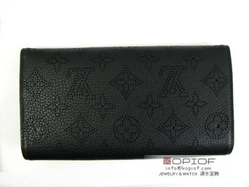 ルイヴィトン モノグラム マヒナ 財布スーパーコピーポルトフォイユ・アメリア ノワール M95549