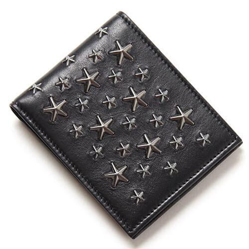 ジミーチュウ 財布 コピー二つ折り財布 MARK BLS BLACK Gunmetal jc24