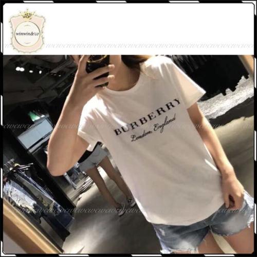 Burberry◆バーバリー Tシャツ コピー プリンティッド コットン